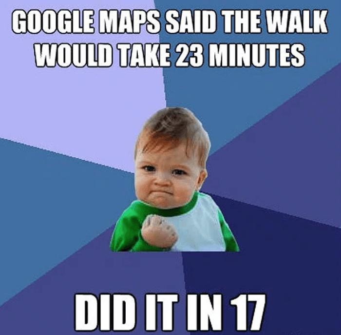 speed walking meme