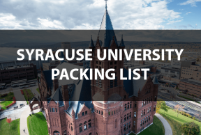 What to Bring to Syracuse University: The Move In Day Packing List