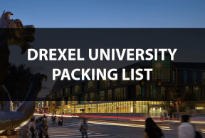 What to Bring to Drexel University: The Move In Day Packing List