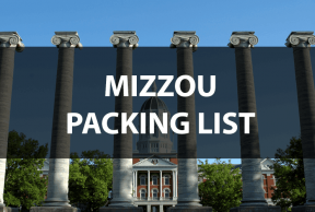 What to Bring to Mizzou: The Move In Day Packing List