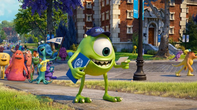 8 monsters university animation movie wallpaper.preview