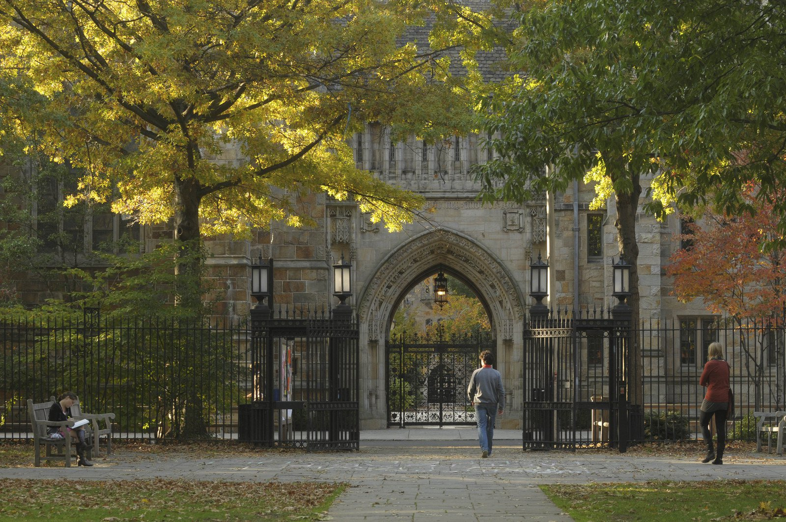 Archdaily yale campus gate
