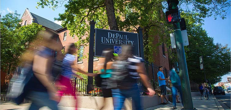 Depaul university campus feat