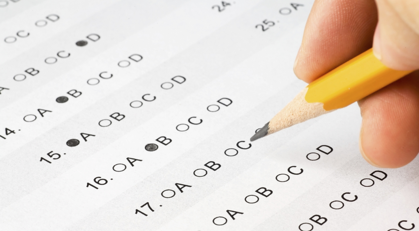 Exam test scantron state high res istock