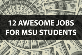 12 Awesome Jobs for MSU Students