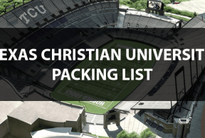 What to Bring to TCU: The Move In Day Packing List