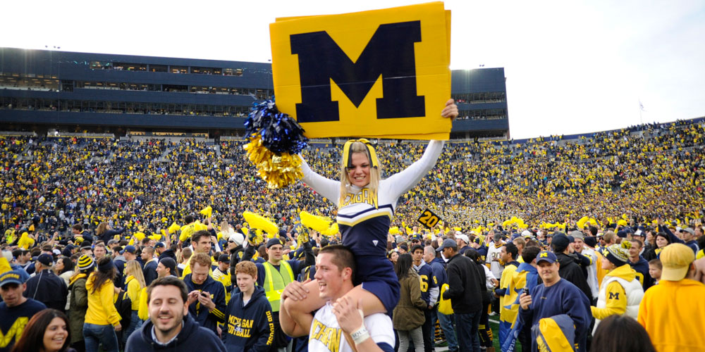 University of michigan cheerleader 1