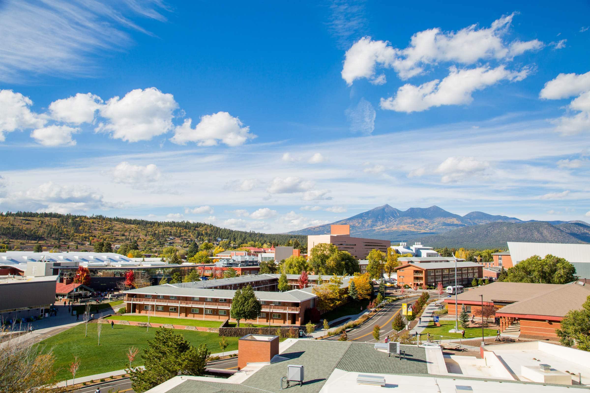 Aerial picture of nau north campus