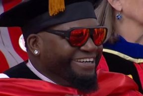 David Ortiz got an honorary degree from Boston University over the weekend