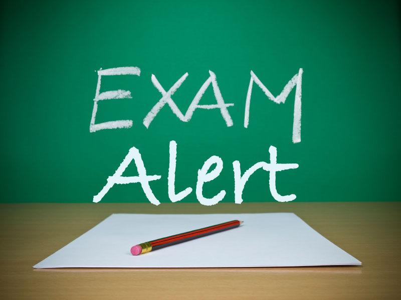 Exam alert image