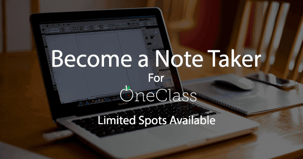 Become a Notetaker at the University of San Francisco