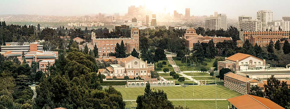 Ucla prestige campus from above