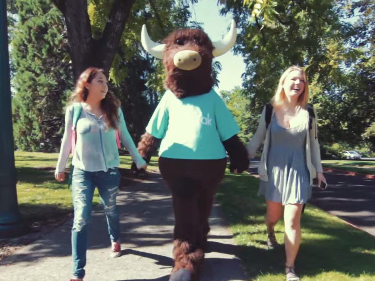 Yik yak mascot college campus girls students 1