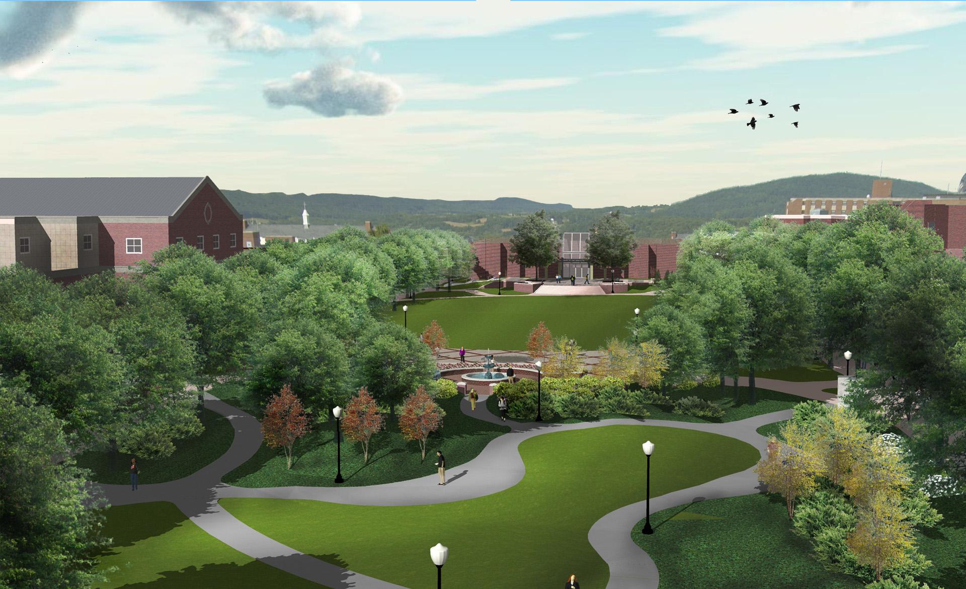 Bloomsburg aerial rendering