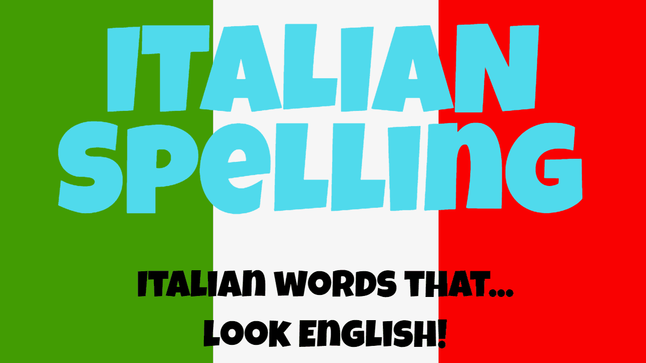 Italian spelling
