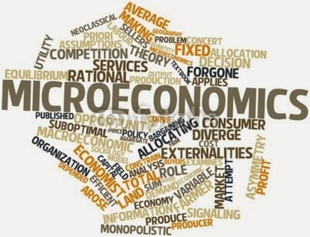 Terms relating to microeconomics