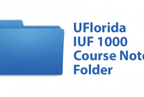 IUF 1000 Course Notes Folder at the University of Florida