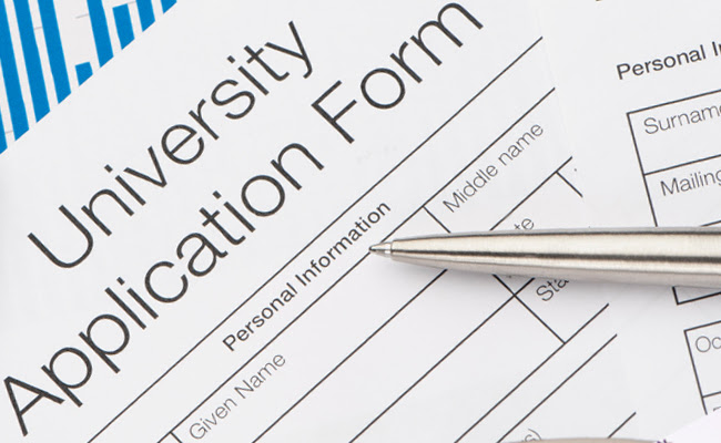 College application form 1
