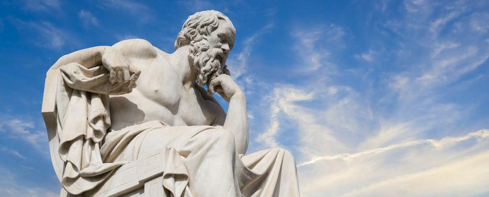picture of a philosopher thinking