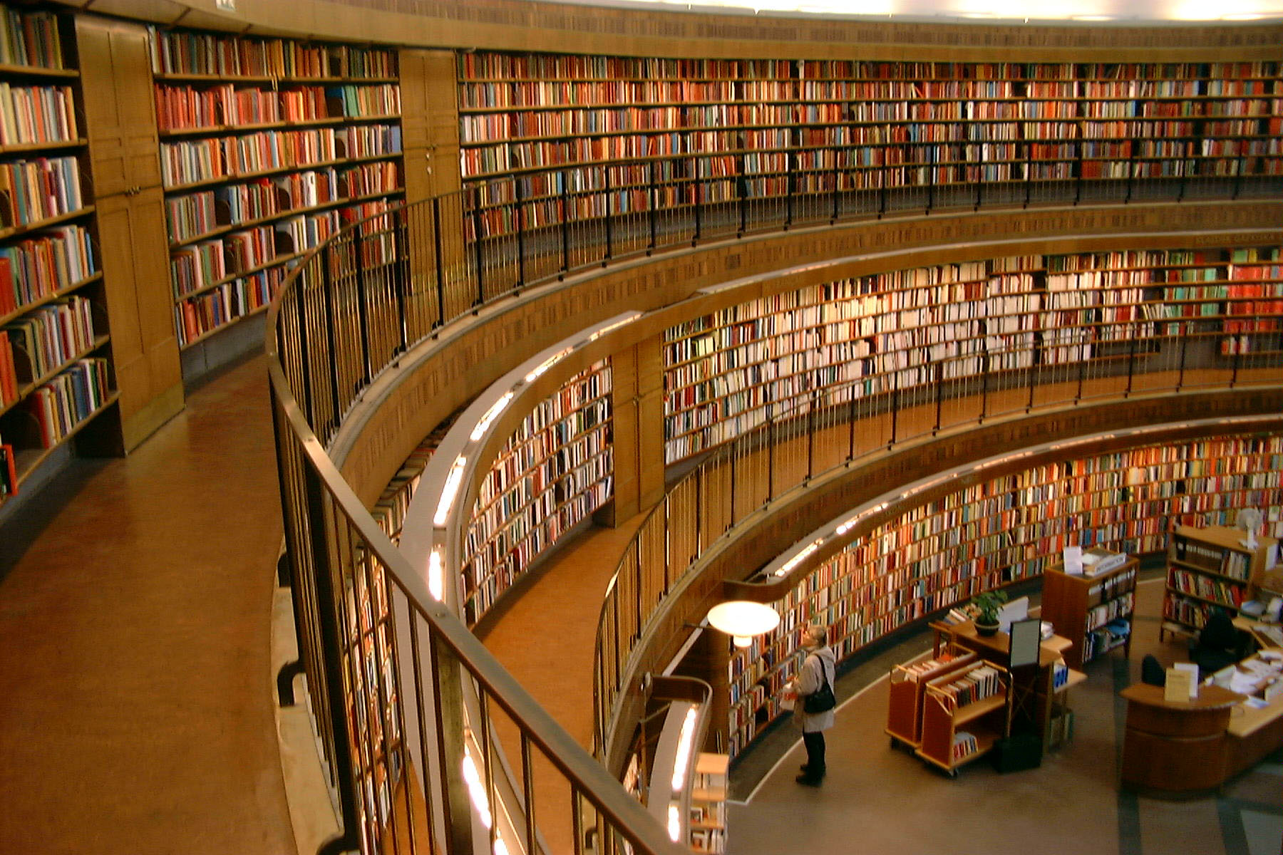 Interior view of stockholm public library