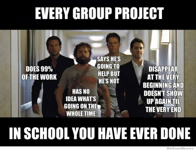 Every group project the hangover