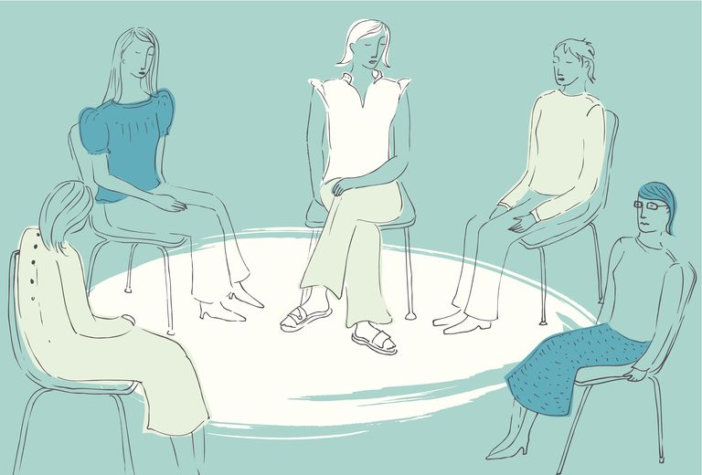 Women sitting together in a circle in support group 475158375 579128e65f9b58cdf3ea4fb3