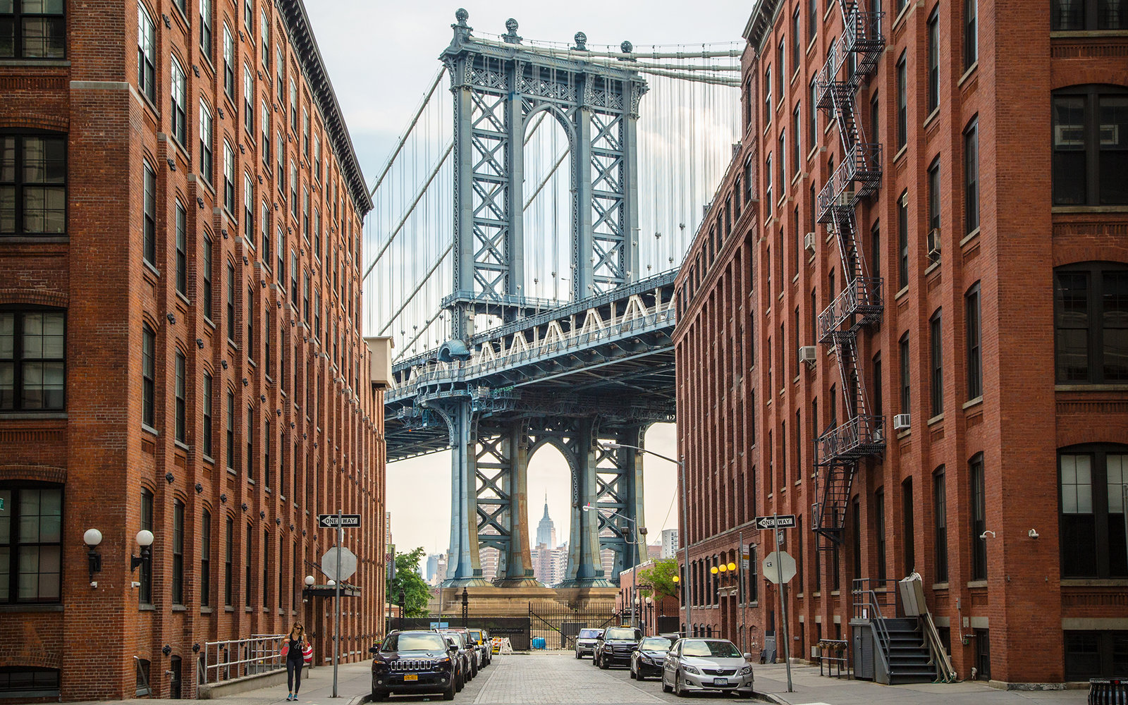 Empire State Building, Manhattan Bridge and Dumbo