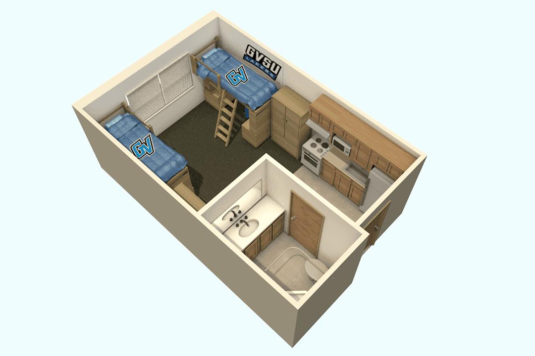 An apartment floor plan.