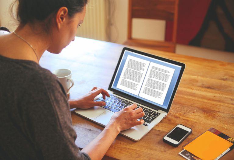 A lady writing a novel