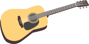 an ilustration of an acoustic guitar.