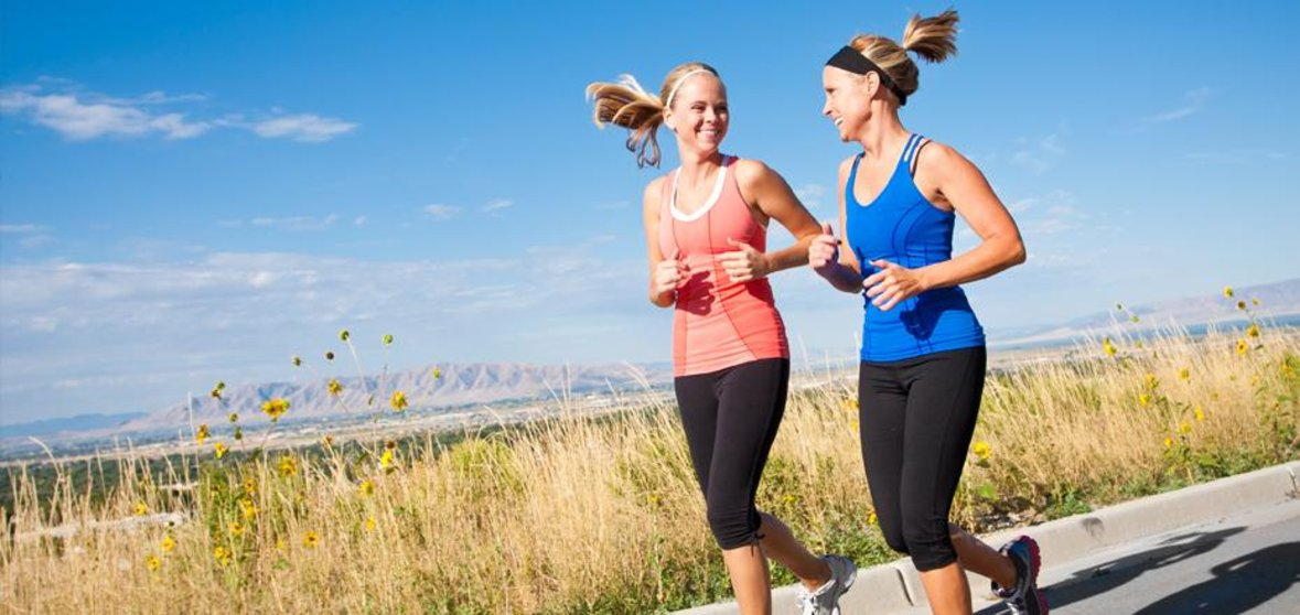 Image of two women jogging