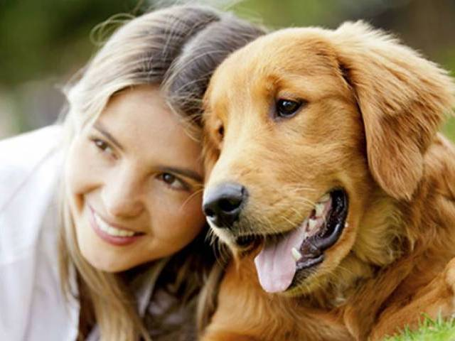 picture of a girl with her dog