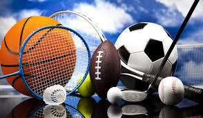 Sporting equipment including basketball, football, soccerball, golf club, badminton, tennis