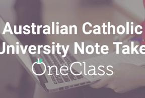 Become an Australian Catholic University Note Taker