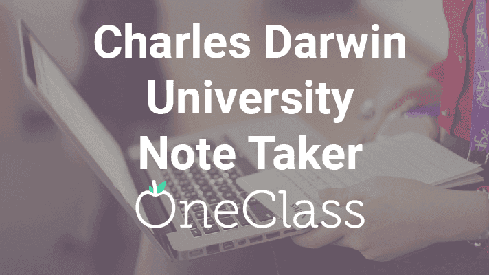 Become a Charles Darwin University Note Taker