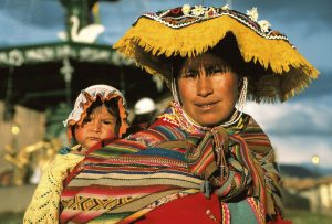 An image of a mother and a child from a different culture