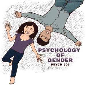 A cover of book used in a Psychology of gender class