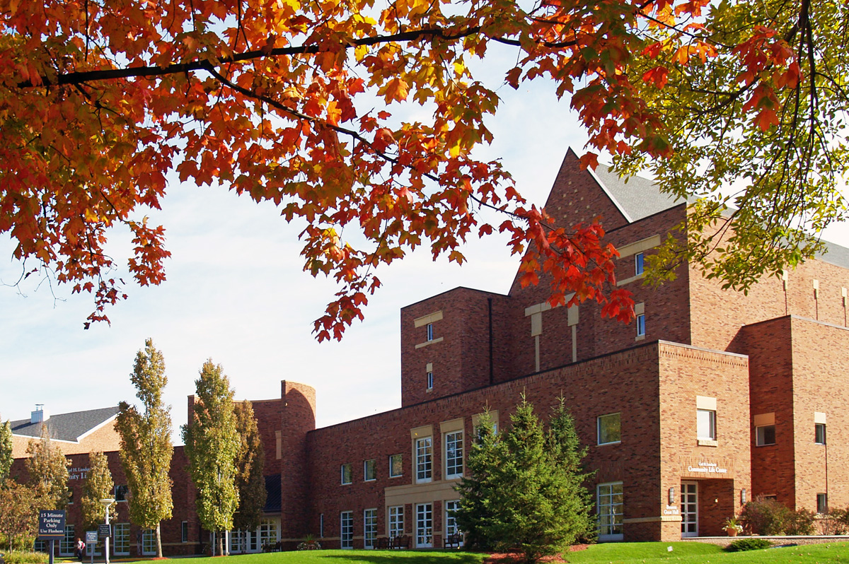 Bethel University campus in the Fall