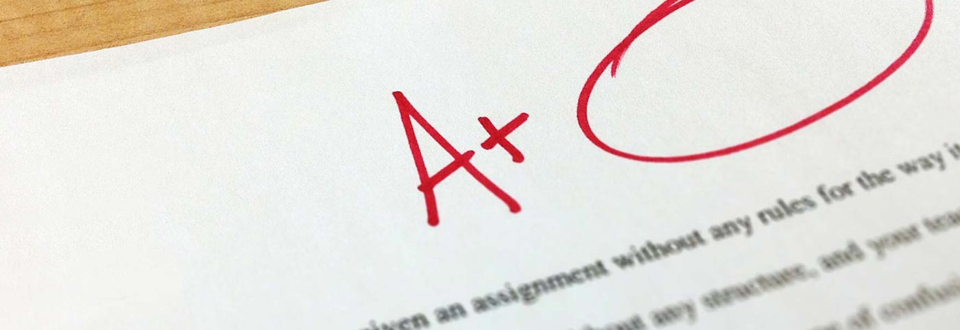 A grade on paper