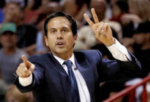 Erik Spoelstra the coach of Miami Heat basketball team