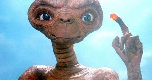 A picture of E.T. from the movie E.T. Extra Terrestrial.