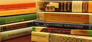 A stack of literature books