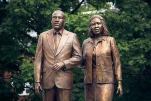 Statue honoring Martin Luther King Jr. and Corretta Scott King.