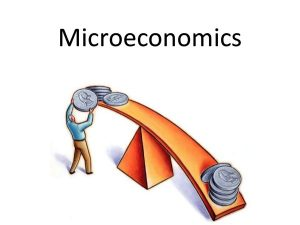 This image depicts visual microeconomics