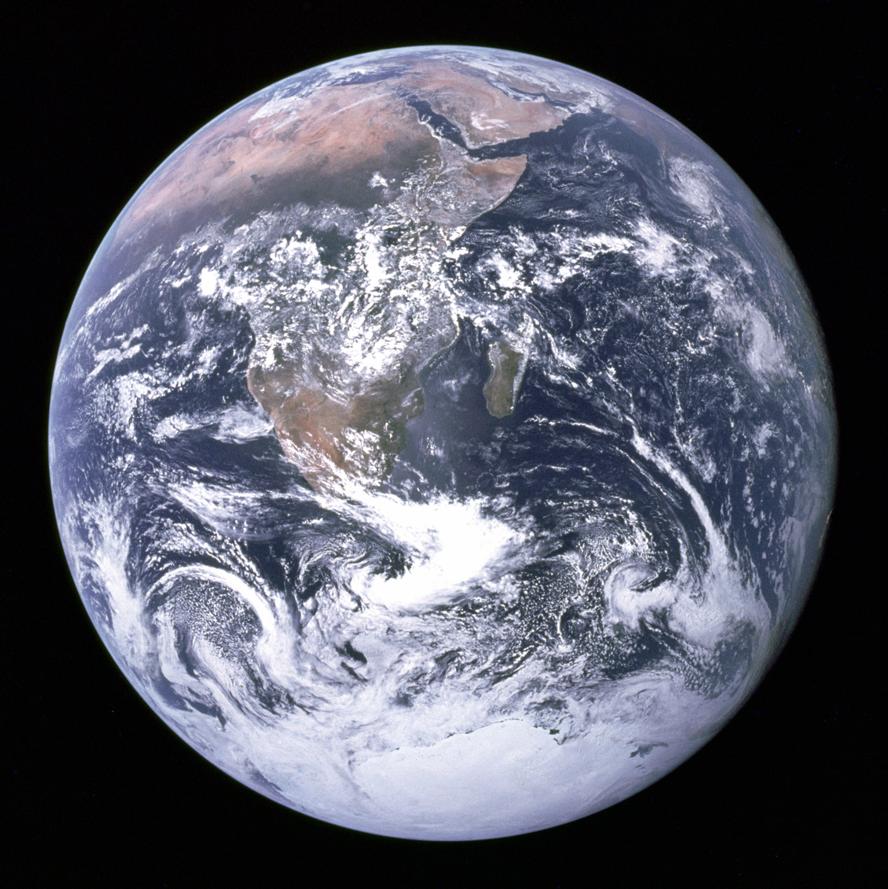 An image of the earth taken from outer space