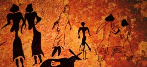 Image of cave drawings