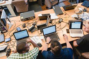 people using laptops
