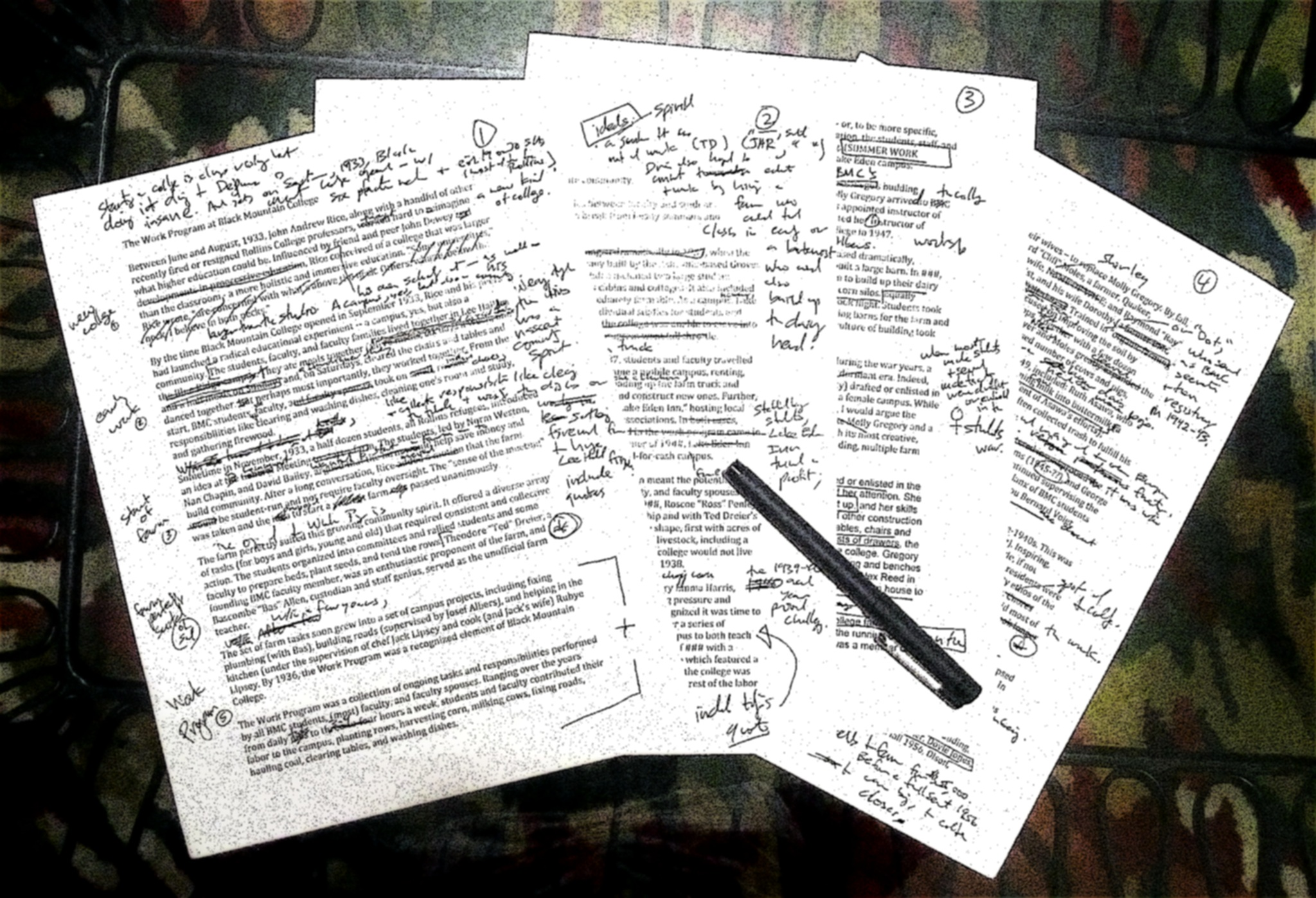 Writing with edits