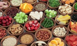Various foods in bowls