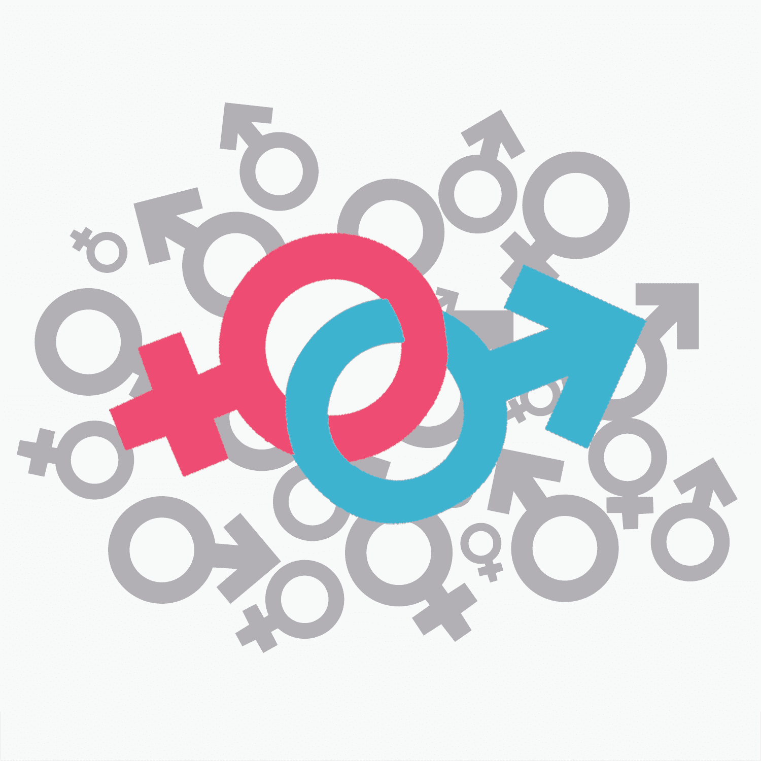 This image is comprised of the two symbols for gender.